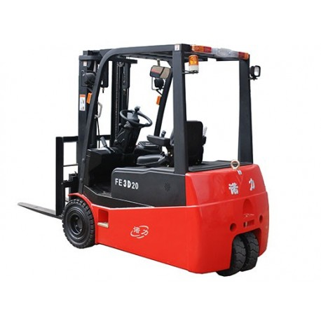Forklift FE3D16AC Electric 3 Wheel Duplex 4M Lift 1600KG - Pallet Truck  Depot