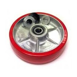 Large Wheel for PT-SC1, 3 & 2-1 Scissor Lift Table Red Polyurethane Steer Wheel 40mm x 150mm x 20mm Core