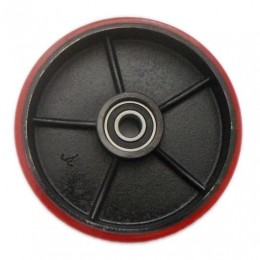 Large Steer Wheel for PT-SC2 Scissor Lift TableRed Polyurethane 50mm x 180mm x 20mm Core (Pack Of Two)