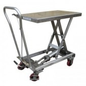 Stainless Steel Mobile Scissor Lift Table BSL10SS 100KG