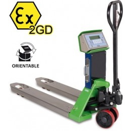 Pallet Truck Scale TPWX2GD Hazardous Zone 550mm x 1150mm 2500KG