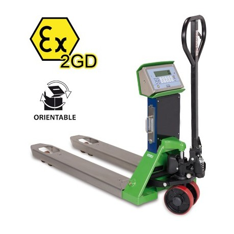 TPWX2GD Hazardous Zone Pallet Truck Scale