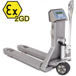 Pallet Truck Scale TPWX2GDI Hazardous Zone Stainless Steel EC Trade Approved ATEX 550mm x 1182mm 2000KG