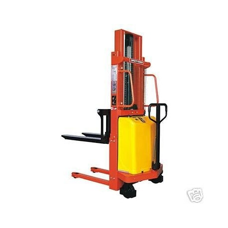 Semi Electric Fork Lift Stacker 2000kg 2m Lift Height