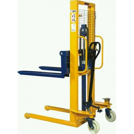 1000kg Manual Fork Lift Pallet Stacker 2.5 m lift